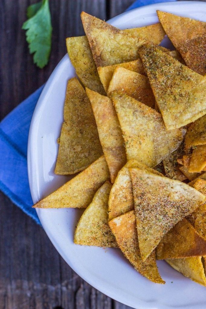 Homemade Cool Ranch Doritos {vegan, gluten free} ~ could also use the seasoning for pork rinds or veggie chips!