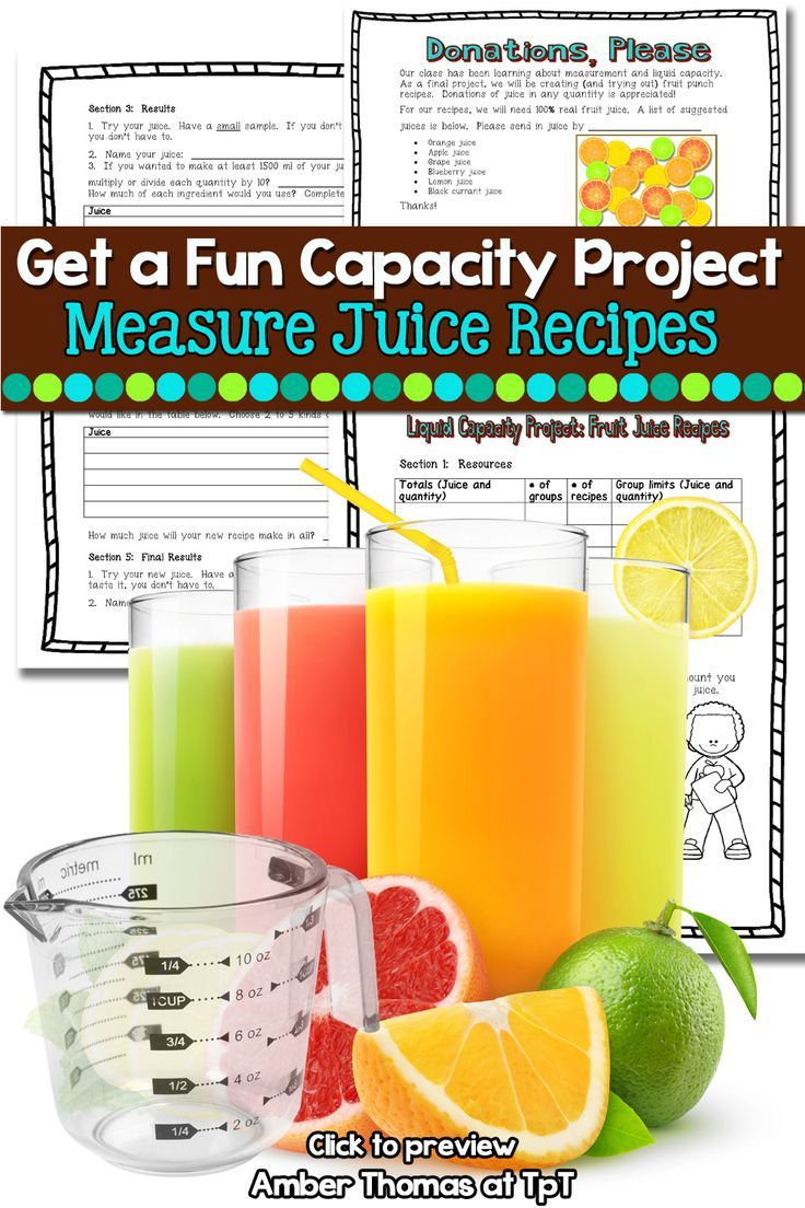Liquid Capacity Metric Measurement Recipes Printable Distance Learning    Measurement activities [ 1104 x 736 Pixel ]