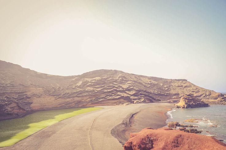 Lanzarote Lago Verde Volcano Island travel blogger
