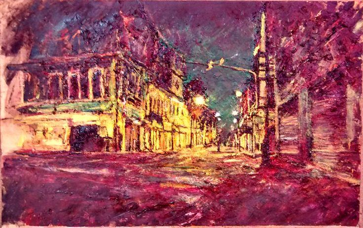 Cerca de Brasil,de la serie En Vías de Tránsito, oleo sobre papel 50 x 70 cm, 2015