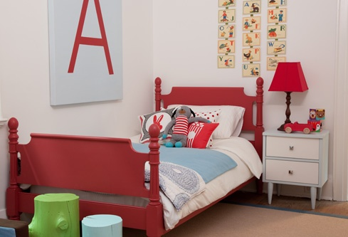 red and blueKids Bedrooms, Big Letters, Boys Bedrooms, Kids Room, Big Boys, Beds Frames, Toddlers Room, Toddlers Bedrooms, Red Beds