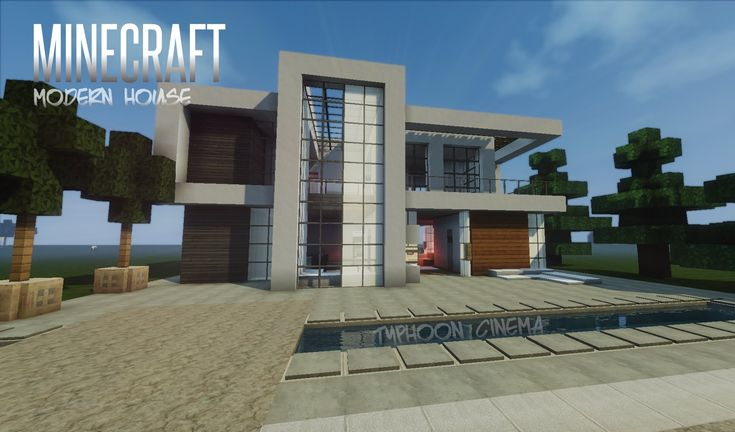Minecraft how to build a modern house best modern house for How to find a home builder