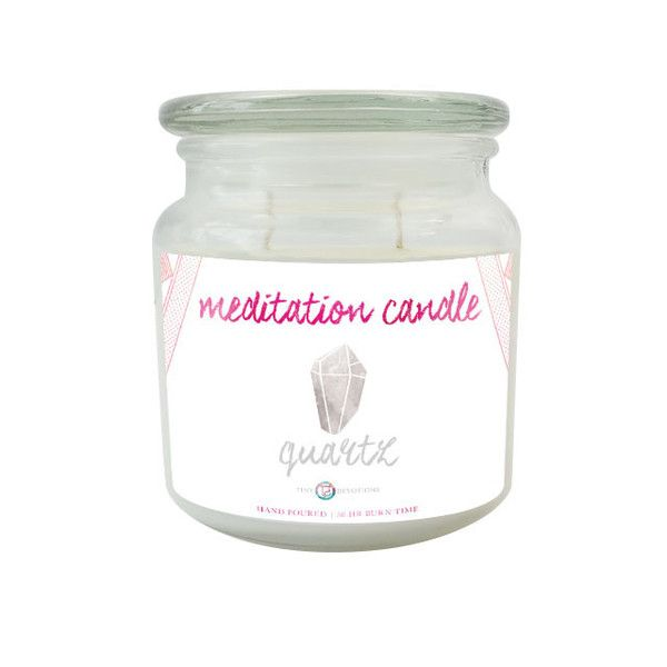 Meditation Crystal Candle by Tiny Devotions