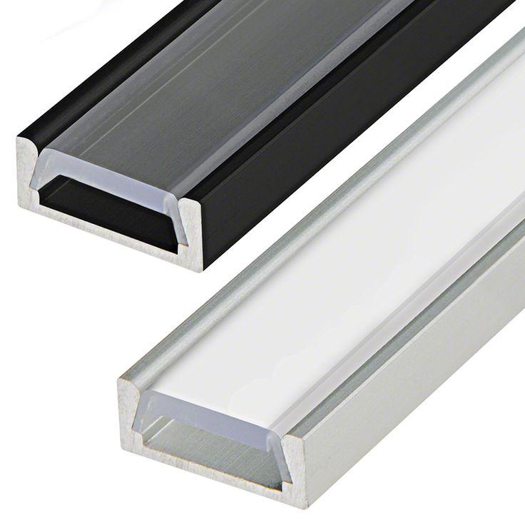 Led Lights For Domestic Garage: Surface Mount Anodized Aluminum LED Profile Housing