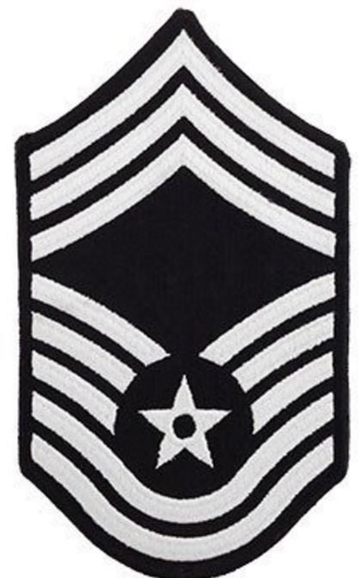 AIR FORCE EMBROIDERED CHEVRON: CHIEF MASTER SERGEANT - SMALL COLOR