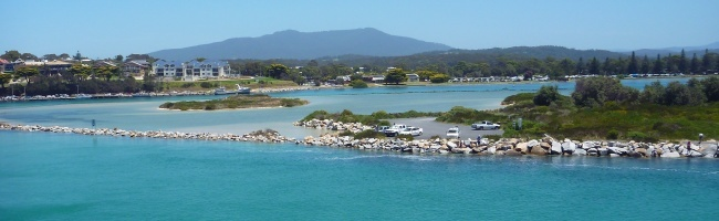the beautiful town of Narooma on the south east coast of Australia