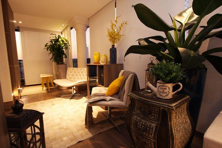 inspiração de varanda, decoração, varanda, apartamento. Projeto de Arquiteta Cristiane Vassoler
