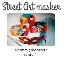 Een les over street-art met als opdracht 'maak je eigen graffiti kunstwerk', ongetwijfeld een schot in de roos bij uw leerlingen!