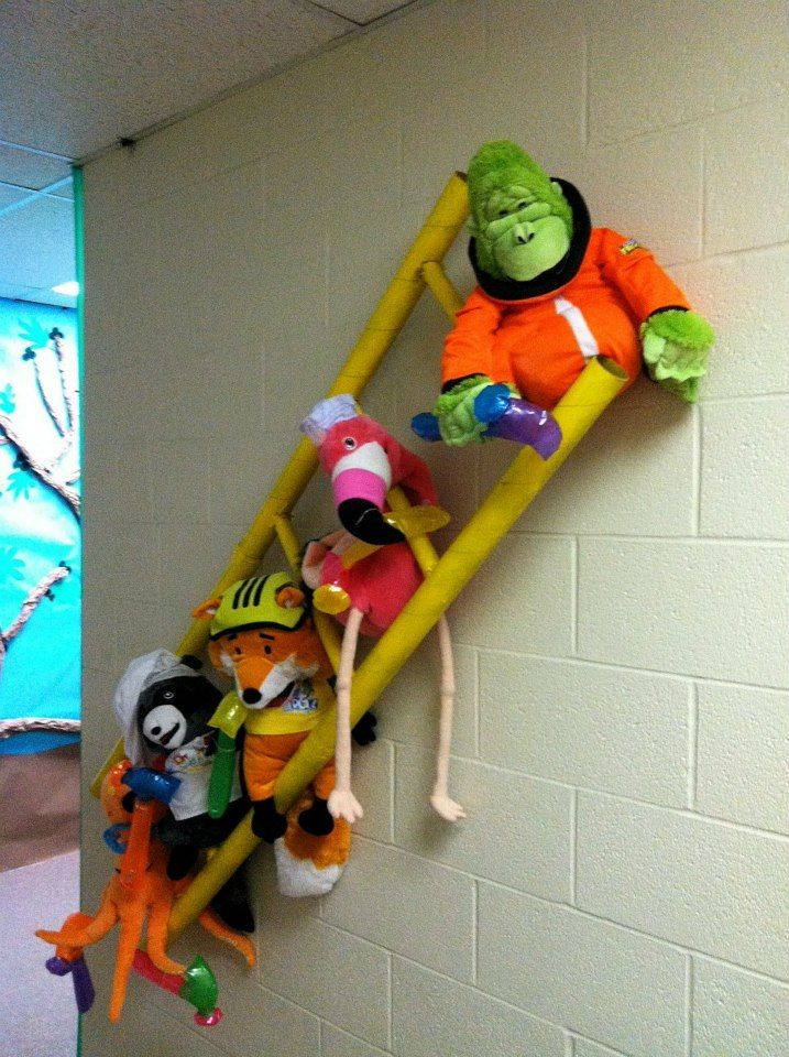 You can make a ladder from pool noodles, and add any animals you want! This church has added puppets from previous VBS programs! So much fun! www.cokesburyvbs.com/2014