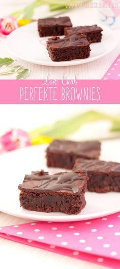 Die perfekten Low Carb Brownies #lowcarb #abnehmen #diät #glutenfrei www.lowcarbkoestlichkeiten.de