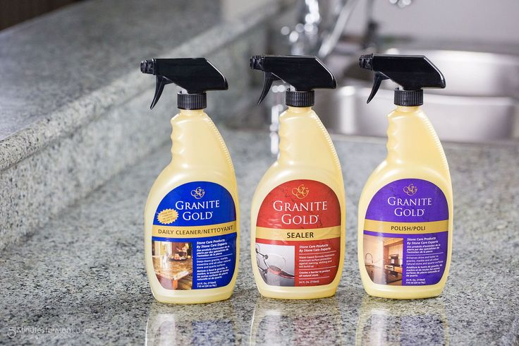 Enter to win a set of Granite Gold Products (ARV $46.97).  The winner will receive a 24 oz bottle each of Granite Gold Daily Cleaner, Granite Gold Sealer, and Granite Gold Polish.  The giveaway ends July 30, 2016 and is open to US and Canadian residents who are 18 and older.