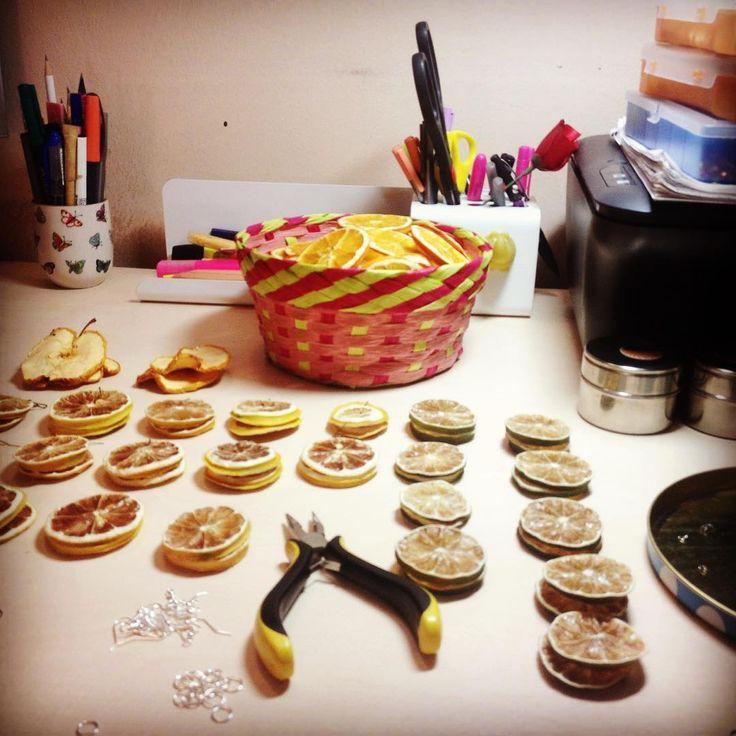 making of #citruscollection #driedfruit #orange #lemon #lime