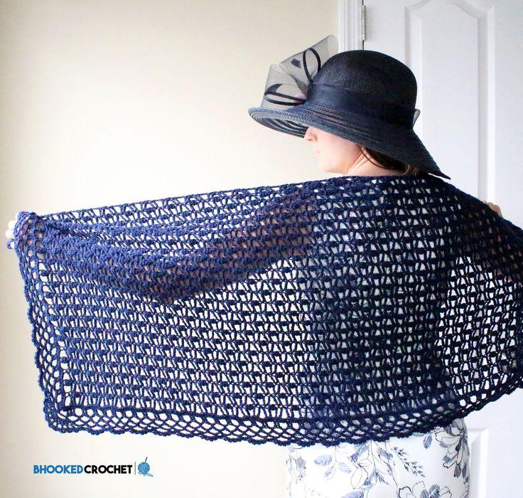Day at the Oaks Lace Crochet Wrap - Free Pattern - B.hooked Crochet - http://www.bhookedcrochet.com/2017/05/28/day-at-the-oaks-lace-crochet-shawl/