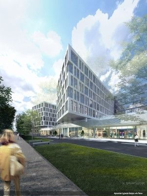 Hotel and Public & Business Complex. Designed in Collaboration with «Soyka-Silber-Soyka» Architekten