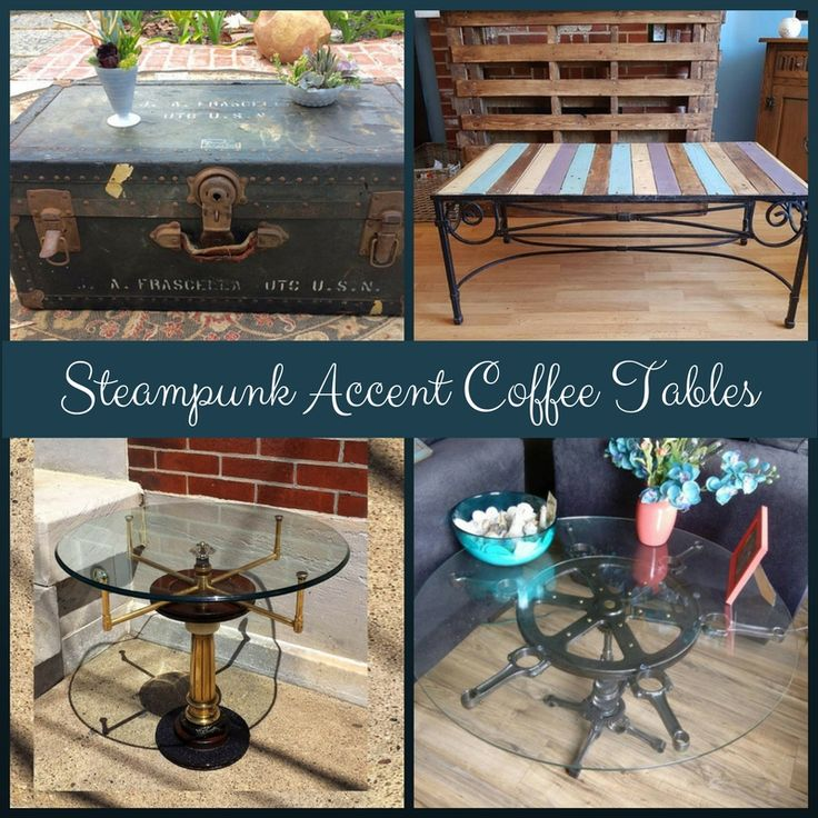 Steampunk Accent Coffee Tables Coffee Conversation And