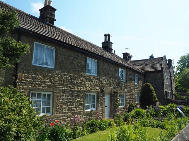 The row of so-called Plague Cottages in Eyam