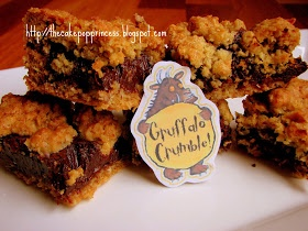 Cake Pop Princess: And my favourite food is... GRUFFALO CRUMBLE!
