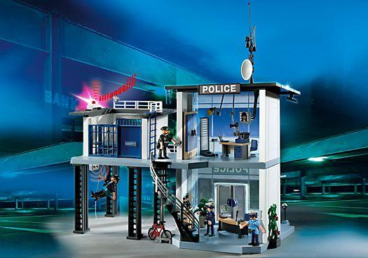 Commissariat de police avec système d`alarme - PM France PLAYMOBIL® France