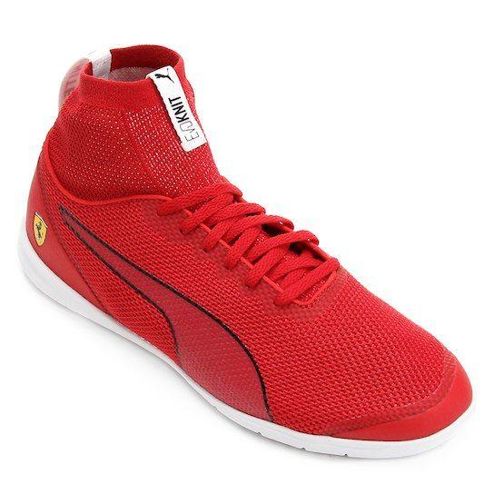 8c791bf3532 Tênis Puma Scuderia Ferrari Changer Ignite Evoknit - Vermelho+Branco ...