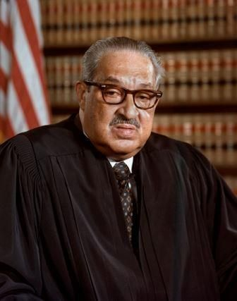 THURGOOD MARSHALL | Today in History - October 2, 1967: Chief Justice Earl Warren swears in Thurgood Marshall, the first black justice of the U.S. Supreme Court. || Thurgood Marshall (July 2, 1908 - January 24, 1993) was an Associate Justice of the United States Supreme Court, serving from October 1967 until October 1991.