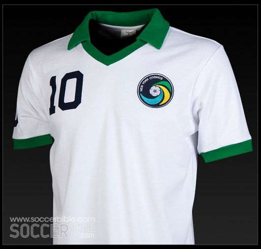 New York Cosmos - difficult choice of home or away .... but away for Pele and Santos