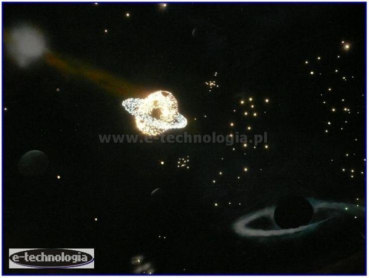 Zestaw Saturn - oświetlony Saturn na poddaszu