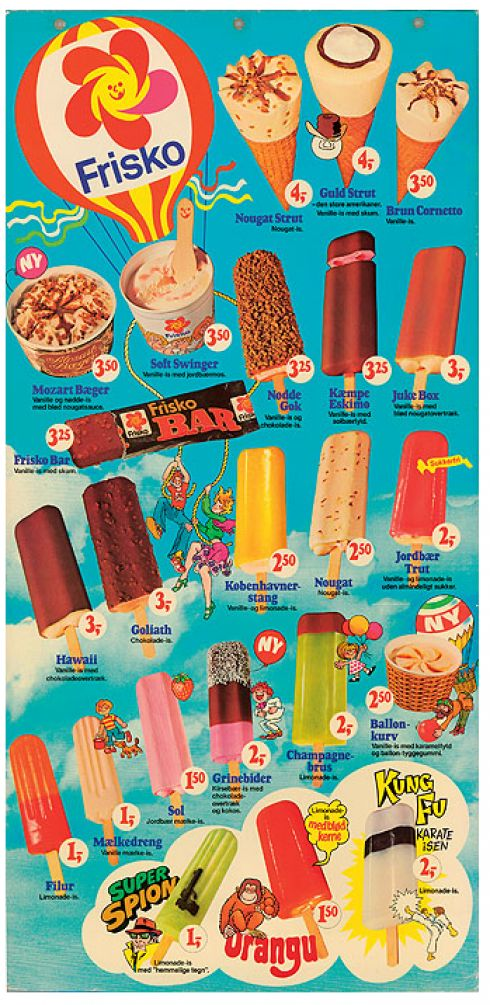 The weather calls for ice cream. Here's the Frisko poster from 1972-83