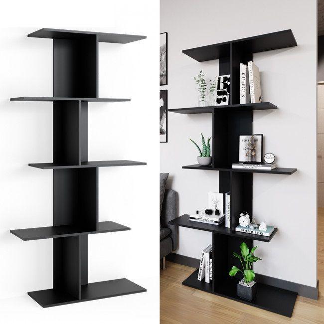 Meuble Etageres Noir Design En 2020 Avec Images Meuble Etagere Etagere Noire Etagere Design