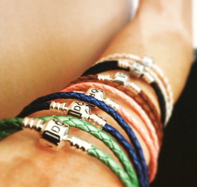 Pandora leather bracelets - stack 'em up!