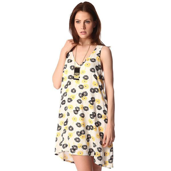 Yellow sundress in floral print - All My DIBS - 1