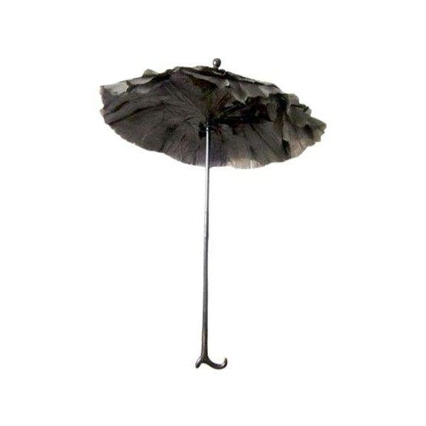 Antique Victorian Folding Parasol (170 CAD) ❤ liked on Polyvore featuring home, home decor and decorative objects