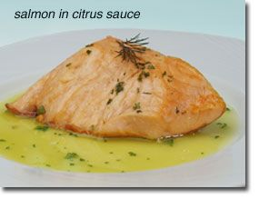 Salmon in Citrus Sauce    If you want to add over 100% of the daily value for those hard-to-find omega-3 fatty acids to your Healthiest Way of Eating try this delicious, easy-to-prepare salmon recipe. The tangy sauce is a great complement to the flavor of the salmon and it only takes minutes to prepare. Enjoy!