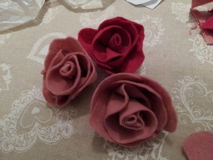 Rose in feltro