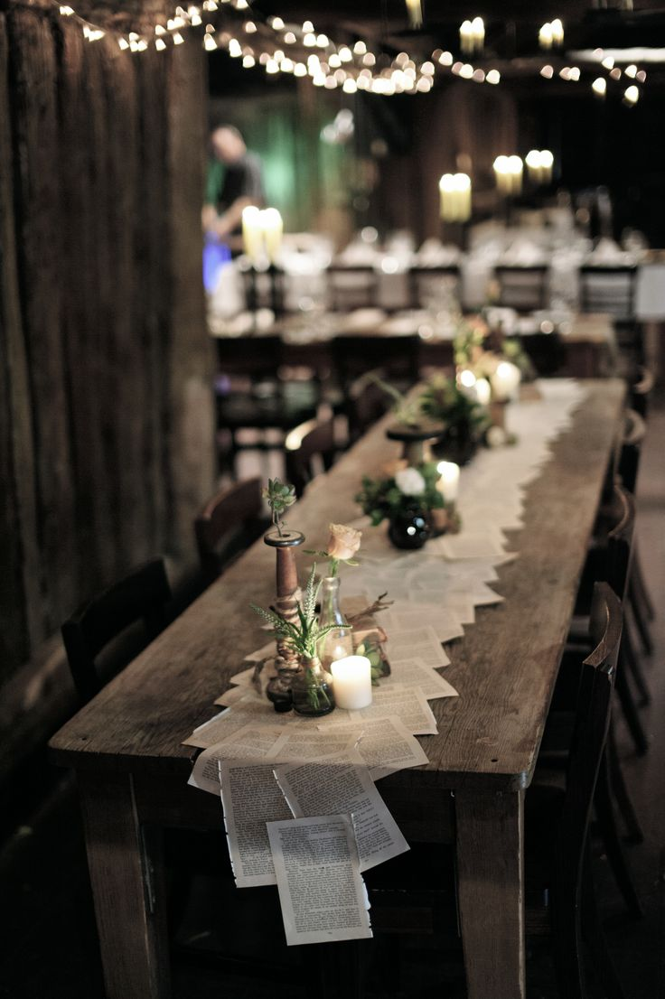 Rustic Charm Barn Wedding. Book table runner. Styled by nomadstyling.com.au