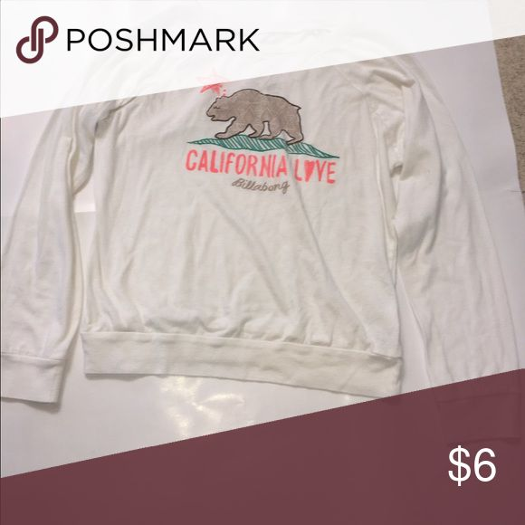 Billabong girls long-sleeve t-shirt California Billabong girls long-sleeve t-shirt. In great condition!😊Remember bundle with other items from my closet to reduce shipping!✨ Billabong Shirts & Tops Tees - Long Sleeve