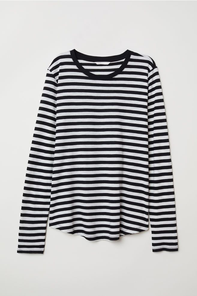 cfbcbeec0e0 Long-sleeved Jersey Top in 2019 | it's my birthday again | Striped ...