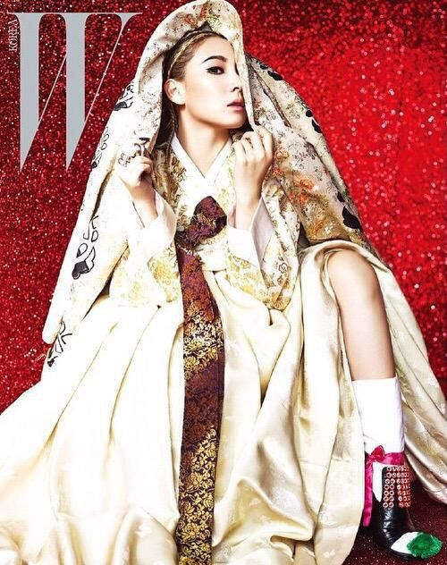 2ne1 leader CL in the March issue of W Korea