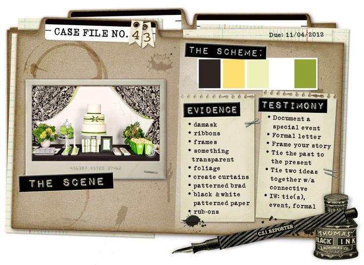 Case File No. 43 {Case closes on November 4, 2012} - CSI: Color, Stories, Inspiration