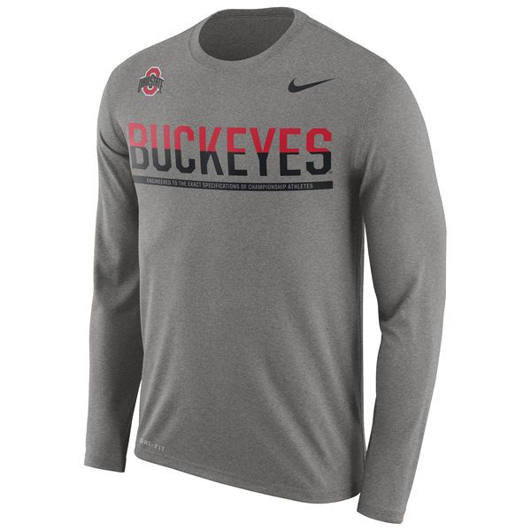 Ohio State Buckeyes Nike 2016 Staff Sideline Legend Dri-FIT Long Sleeve T-Shirt…