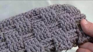 How To Crochet A Basket Weave Stitch - RH, via YouTube.