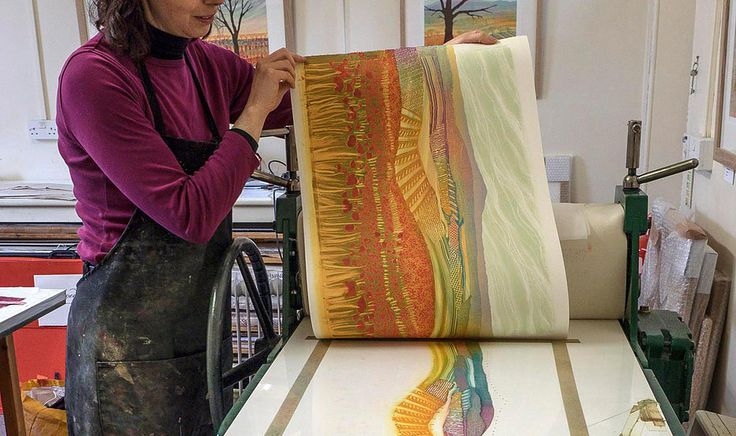Rebeccca Vincent monotype peeling off the print.