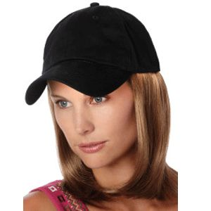 Medium Wig Black Cap Hair Permanently Attached To 100 Cotton Absolutely