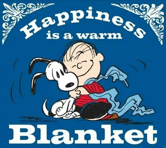 Happiness is a warm blanket!