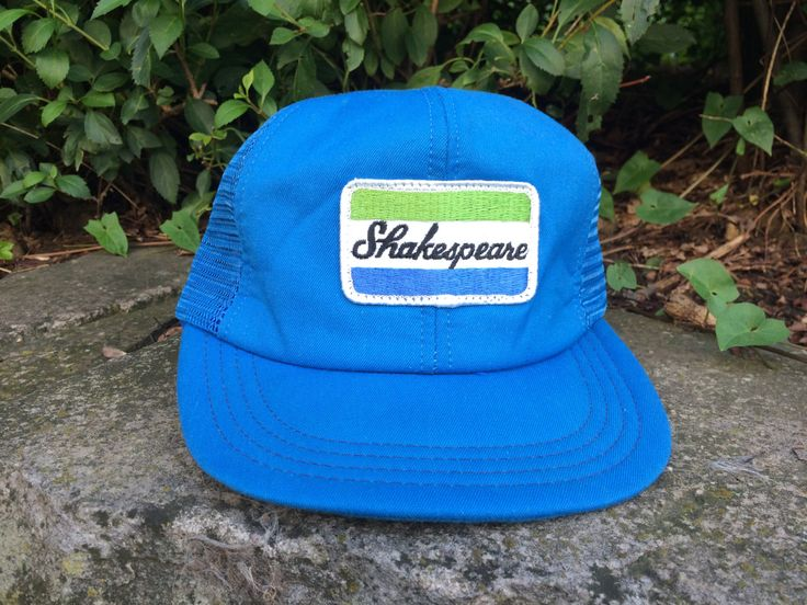 Vintage Shakespeare Fishing Tackle Truckers Ball Cap Light Blue EXC by PittsburghFieldFinds on Etsy