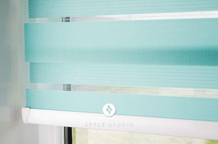 Style Studio Mirage Roller Blind in half open position