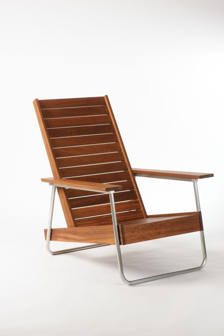 Joe Gibson; Mahogany And Aluminum U0027Belmontu0027 Chair For Revolution Design  House, ...