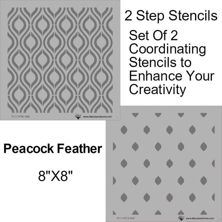 DCAM STORE: Peacock feather stencil -Review