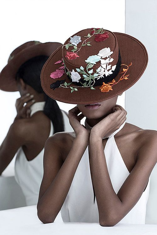 Ethical handmade fashion hats with beautiful embroidery