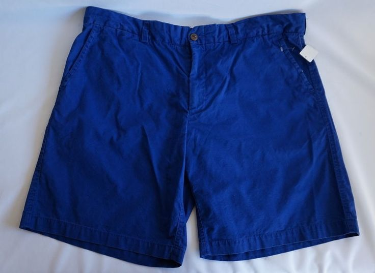 Men Polo Ralph Lauren Shorts Size 38 Solid Royal Blue Flat Front #PoloRalphLauren #CasualShorts