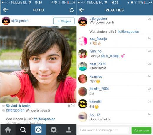 #cijfergooien op Instagram - gesprekstips | Mijn Kind Online